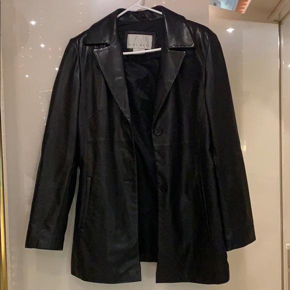Nine West Black Leather Jacket